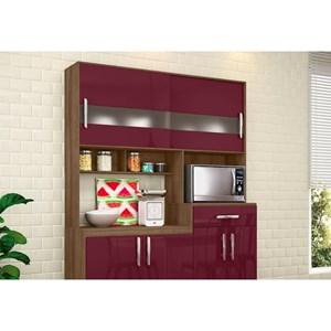 Kit Cozinha Compacta Carol Terraro/Fucsia - MoveMax