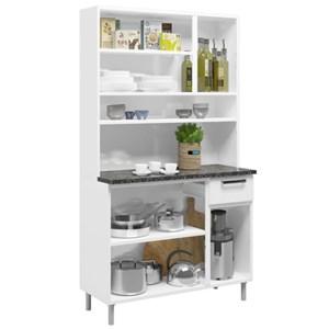 Kit Cozinha Compacta Múltipla Aço Vidro 6 Portas 6143 Branco - Bertolini