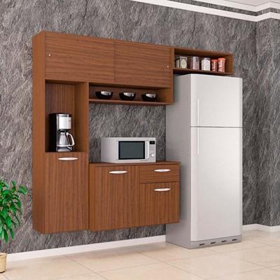 Kit Cozinha Compacta Suspensa Com Balcão Thais Capuccino - Poquema