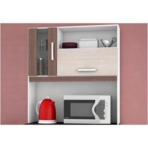 Kit para Cozinha Ellen 5 Portas Amêndoa com Capuccino - Poquema