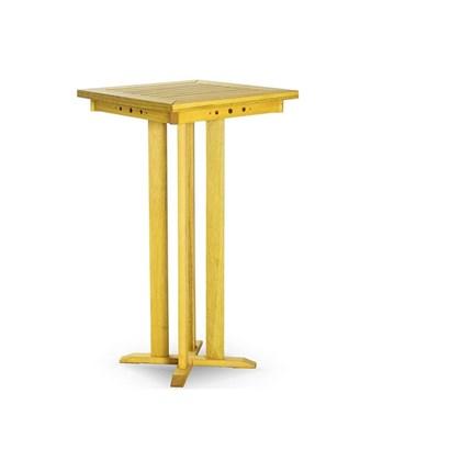 Mesa Alta Bar com 60,5 cm Stain Amarelo - Mão & Formão