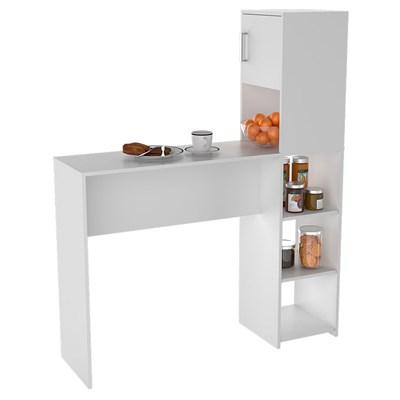 Mesa Bancada Gourmet para Cozinha 1 Porta 4 Nichos BAC 2000 Branco - Appunto