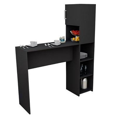 Mesa Bancada Gourmet para Cozinha 1 Porta 4 Nichos BAC 2000 Preto - Appunto
