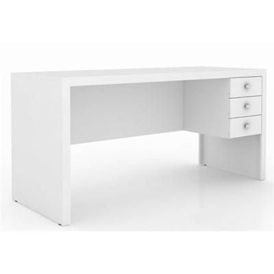 Mesa com 03 Gavetas para Home Office ME4113 Branco – Tecno Mobili