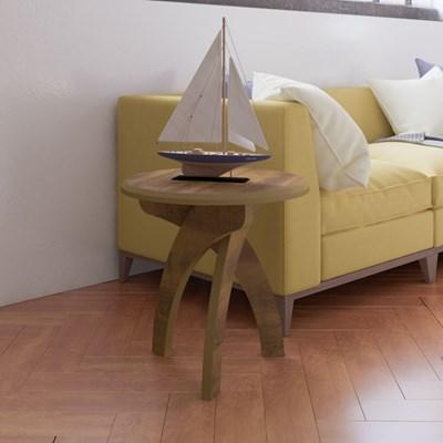 Mesa de Apoio Lateral Jade Pinho - Artely