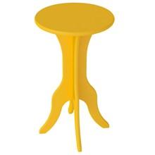 Mesa de Apoio Lateral Kin Amarelo - Artely
