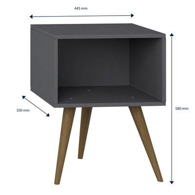 Mesa de Cabeceira Pés Palito Retrô 1001 Espresso - BE Mobiliário