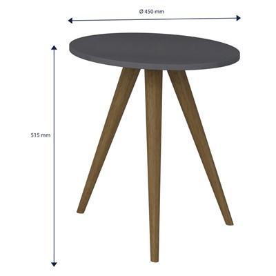 Mesa de Canto Lateral Pés Palito Retrô 1006 Espresso - BE Mobiliário