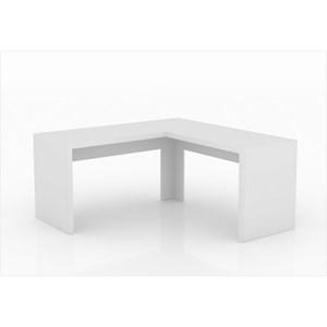 Mesa de canto para Home Office ME4116 Branco – Tecno Mobili