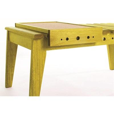 Mesa de Centro com Bandeja Varanda Stain Amarelo - Mão & Formão