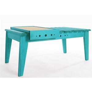 Mesa de Centro com Bandeja Varanda Stain Azul - Mão & Formão