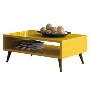 Mesa de Centro com Pés Palito Lucy Amarelo - HB Móveis