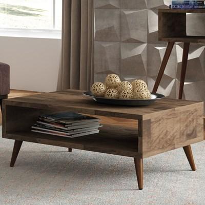 Mesa de Centro com Pés Palito Lucy Deck - HB Móveis