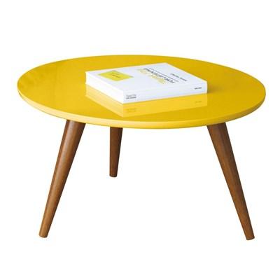 Mesa de Centro com Pés Palito Sorelle Amarelo - HB Móveis