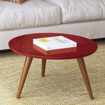 Mesa de Centro com Pés Palito Sorelle Vermelho - HB Móveis