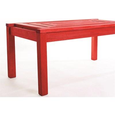 Mesa de Centro Echoes Stain Vermelho - Mão & Formão