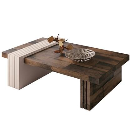 Mesa de Centro Luna Deck/Off White - HB Móveis