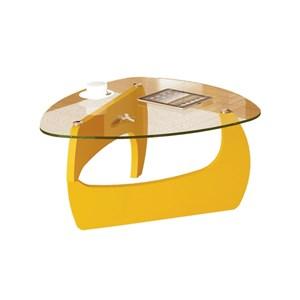 Mesa de Centro para Sala Cult Amarelo - Artely