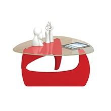 Mesa de Centro para Sala Cult Vermelho - Artely