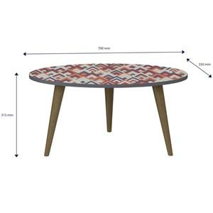 Mesa de Centro Pés Palito Retrô 1007 Espresso/Vermelho - BE Mobiliário