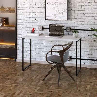 Mesa de Escritório Escrivaninha 120cm Dynamica Industrial C08 Branco Chess - Mpozenato