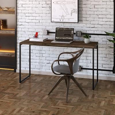 Mesa de Escritório Escrivaninha 135cm Dynamica Industrial C08 Carvalho Dark - Mpozenato