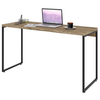 Mesa de Escritório Escrivaninha 135cm Dynamica Industrial C08 Carvalho - Mpozenato