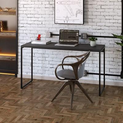 Mesa de Escritório Escrivaninha 135cm Dynamica Industrial C08 Preto Ônix - Mpozenato