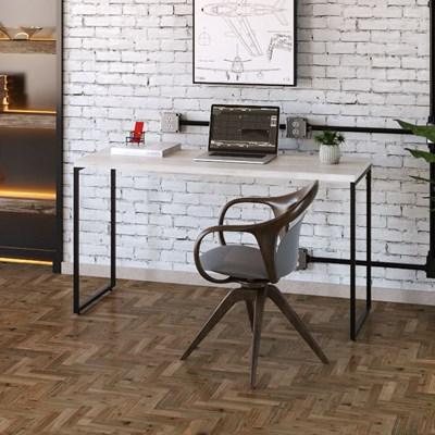 Mesa de Escritório Escrivaninha 135cm Dynamica Industrial C08 Snow - Mpozenato