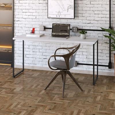 Mesa de Escritório Escrivaninha 150cm Dynamica Industrial C08 Branco Chess - Mpozenato