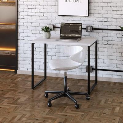Mesa de Escritório Escrivaninha 90cm Dynamica Industrial C08 Branco Chess - Mpozenato