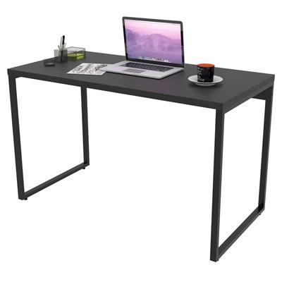 Mesa de Escritório Office 120cm Estilo Industrial Prisma Preto C08 Onix - Mpozenato