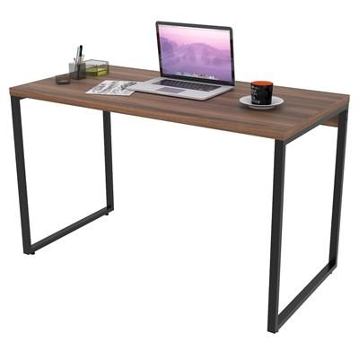 Mesa de Escritório Office 135cm Estilo Industrial Prisma C08 Nogal - Mpozenato
