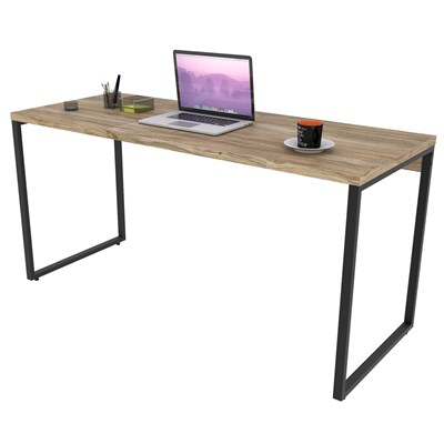 Mesa de Escritório Office 150cm Estilo Industrial Prisma Carvalho - Mpozenato