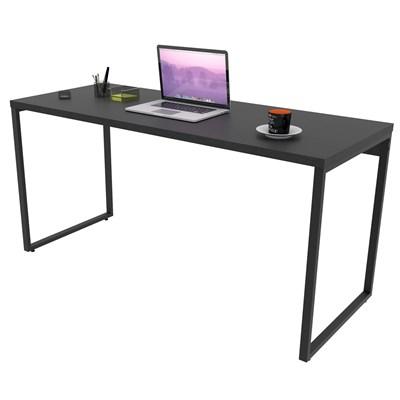 Mesa de Escritório Office 150cm Estilo Industrial Prisma Preto C08 Onix - Mpozenato