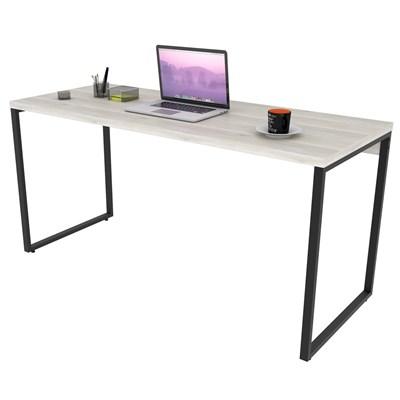 Mesa de Escritório Office 150cm Estilo Industrial Prisma Snow - Mpozenato
