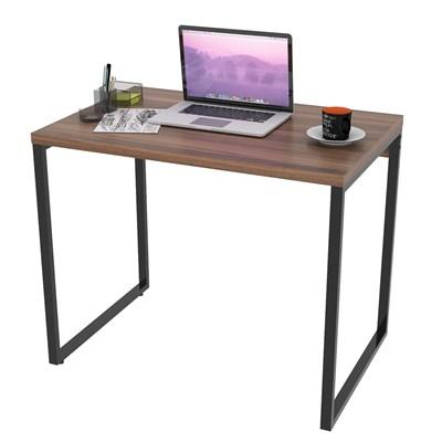 Mesa de Escritório Office 90cm Estilo Industrial Prisma C08 Nogal - Mpozenato