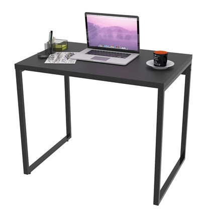 Mesa de Escritório Office 90cm Estilo Industrial Prisma C08 Preto Onix - Mpozenato