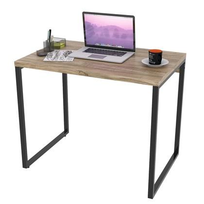 Mesa de Escritório Office 90cm Estilo Industrial Prisma Carvalho - Mpozenato