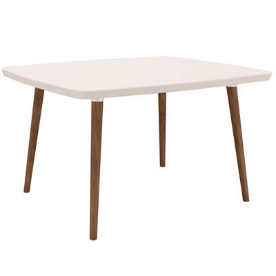 Mesa de Jantar 120cm Jade Naturale/White - RV Móveis