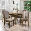Mesa de Jantar 160cm com 6 Cadeiras Ônix Amadeirado/Pena Caramelo - RV Móveis