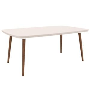 Mesa de Jantar 170cm Jade Naturale/White - RV Móveis