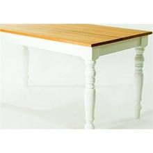 Mesa de Madeira 120 x 76 x 80 Pestre Jatobá com Branco - Mão & Formão