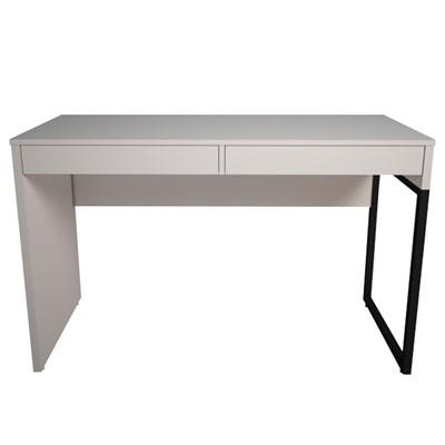 Mesa Escritório Estilo Industrial 2 Gavetas Desk Branco - Fit Mobel