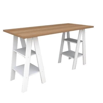 Mesa Escrivaninha Cavalete Self ESC 3003 Castanho/Branco - Appunto