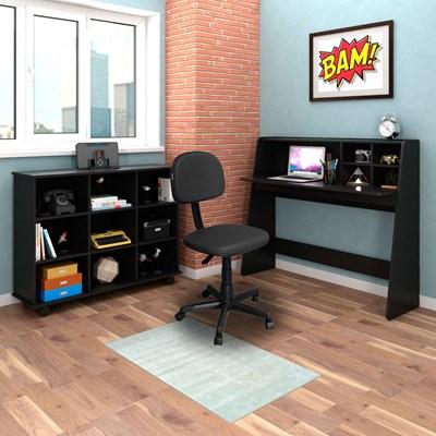 Mesa Escrivaninha Idealle Nicho Multiuso Toys e Cadeira Giratória CS-02 C13 Preto - Mpozenato