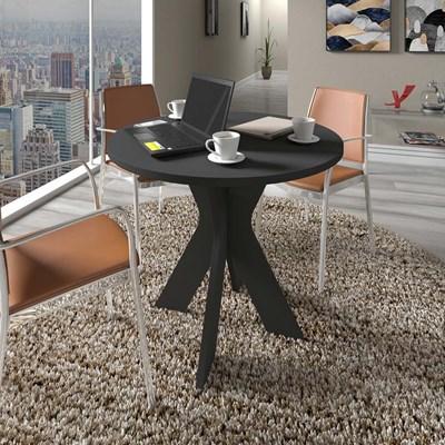 Mesa Home Office Redonda Sun Preto - Artany