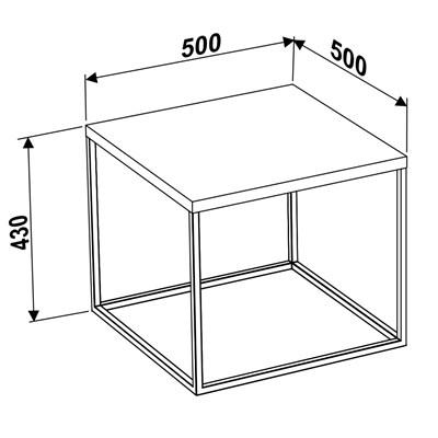 Mesa Lateral M Cube 24803 Vermont - Artesano