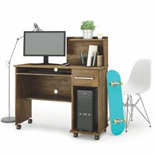 Mesa Para Computador 1 Gaveta Studio Canela - Lukaliam Móveis