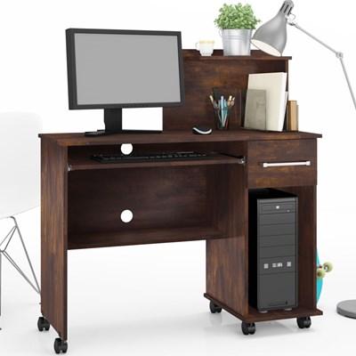 Mesa Para Computador 1 Gaveta Studio Noce - Lukaliam Móveis
